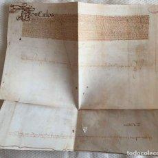 Manuscritos antiguos: FACSÍMIL PUERTO DE LA CORUÑA (CARLOS V, 1520) GALICIA. COLECCIONISTA. Lote 233430525