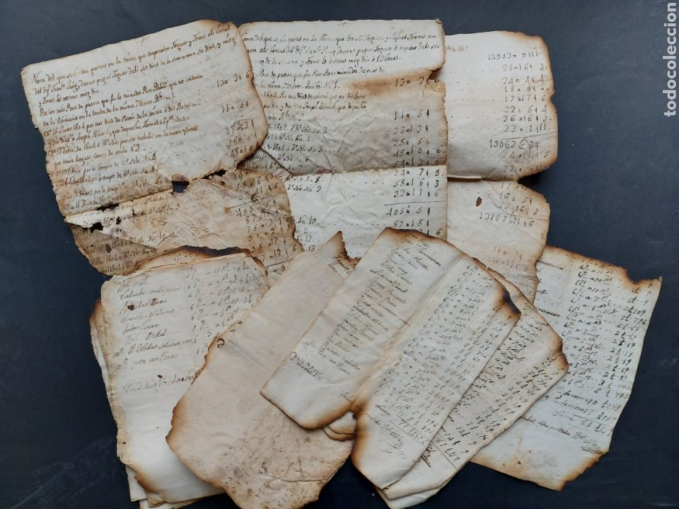 NOTAS MANUSCRITAS VENTA O CUENTAS MINA FOGUET A INVESTIGAR 1807 S. XIX (Coleccionismo - Documentos - Manuscritos)