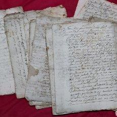 Manuscritos antiguos: LOTE MANUSCRITOS S.XVII MARQUESADO TORRELLES DE FOIX. CASA FERRER. GALLOFRE. MOLINO BALLA. MORGADAS. Lote 233897675