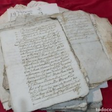 Manuscritos antiguos: LOTE DE MANUSCRITOS S.XVII. MARQUESADO DE FOIX. RAMÓN DE PEGUERA. Lote 233911245