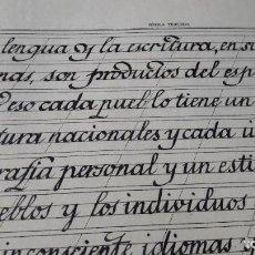 Manuscritos antiguos: ESCUELA DE MAGISTERIO, BARCELONA 1947. TIPOGRAFÍA MANUSCRITA A PLUMA. - MÉTODO DE LETRA ESPAÑOLA. Lote 233917330