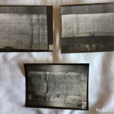 Manuscritos antiguos: 3 FOTOGRAFÍAS B/N: DOCUMENTOS ARAGÓN Y NAVARRA (ALFONSO IV, LEONOR Y JUAN II) ARCHIVO, 1960'S.. Lote 234050565