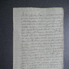 Manuscritos antiguos: MANUSCRITO AÑO 1624 OLBES ZARAGOZA CAPITULACIONES MATRIMONIALES ANTES DE COPULA CARNAL CONSUMAR. Lote 234320700