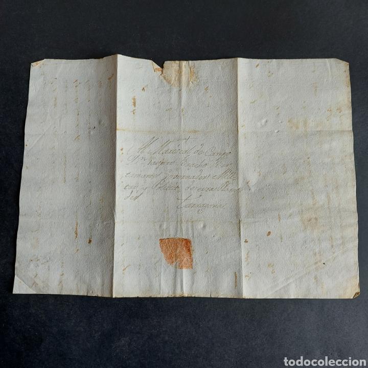 Manuscritos antiguos: Carta Manuscrita Tarragona Marical Campo Gaspar Bracho Bustamante Gobernador Militar Político XVIII - Foto 2 - 234472715