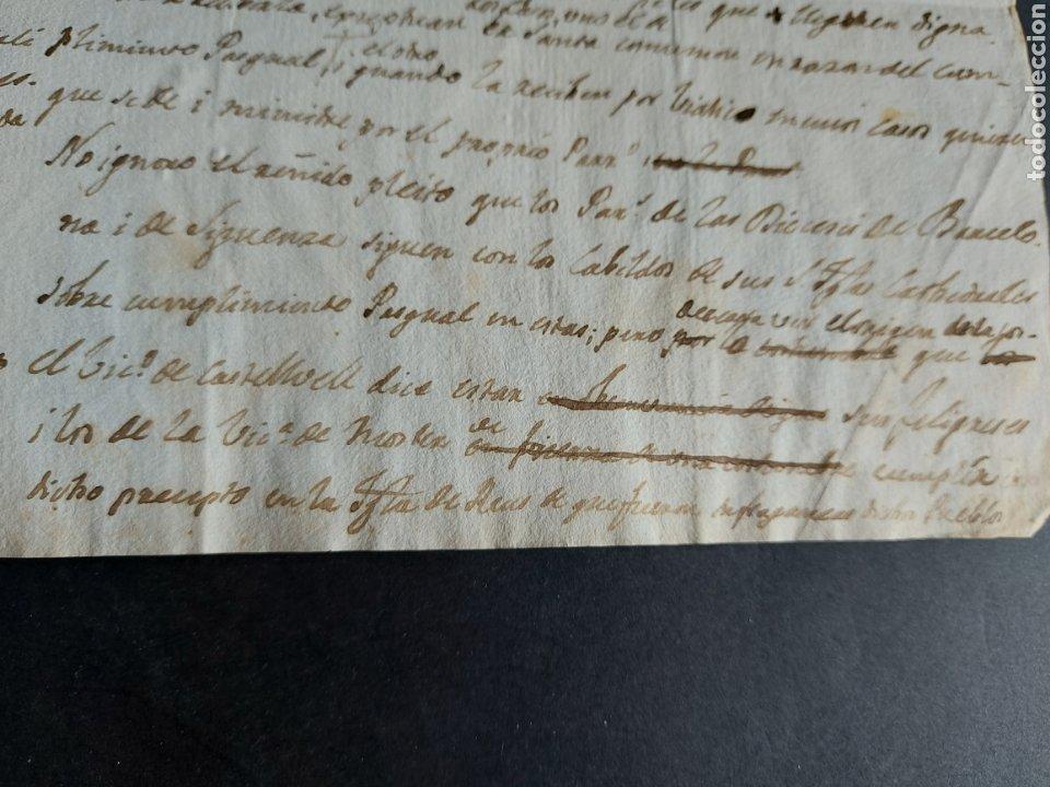 Manuscritos antiguos: Carta Manuscrita Tarragona Marical Campo Gaspar Bracho Bustamante Gobernador Militar Político XVIII - Foto 6 - 234472715