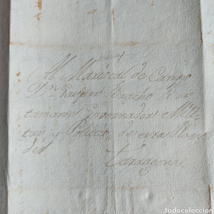 CARTA MANUSCRITA TARRAGONA MARICAL CAMPO GASPAR BRACHO BUSTAMANTE GOBERNADOR MILITAR POLÍTICO XVIII (Coleccionismo - Documentos - Manuscritos)