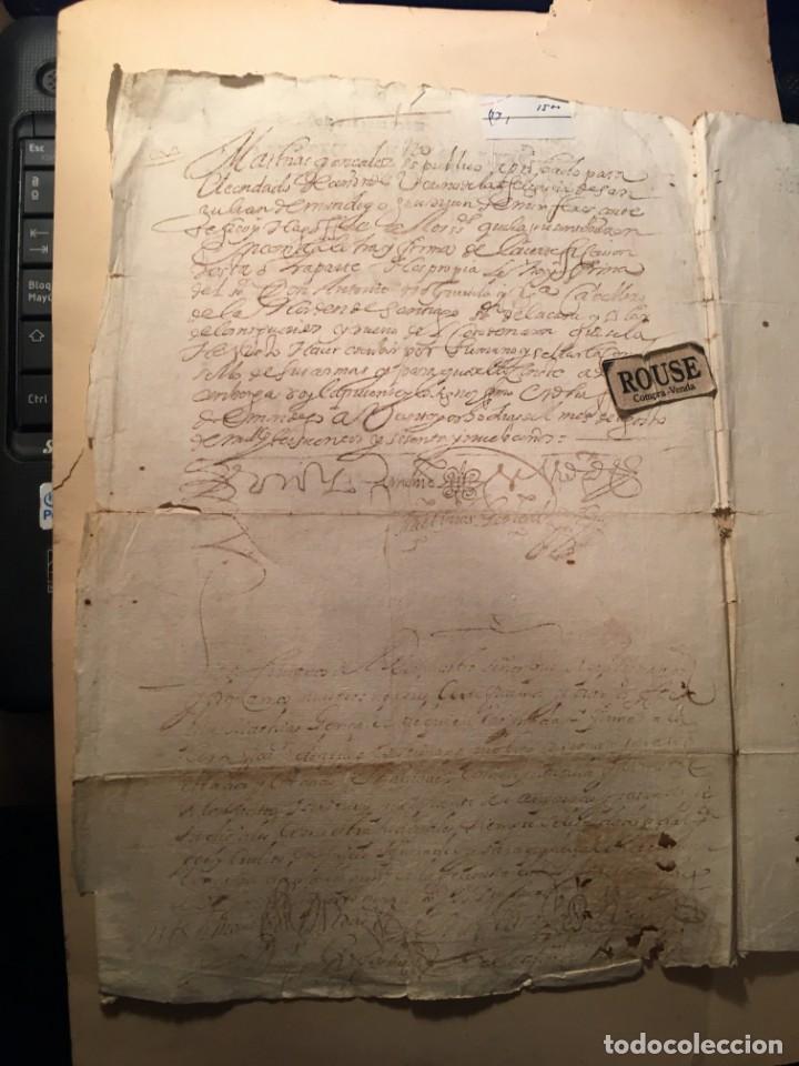 Manuscritos antiguos: ANTIGUO DOCUMENTO MANUSCRITO 1669 - 4 PAG. - Foto 2 - 234926545