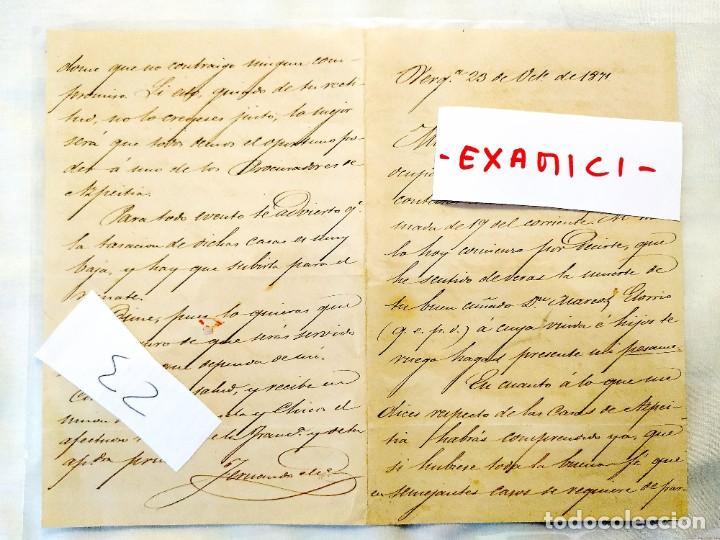 1871 - VERGARA - FAMILIA EGAÑA - VENTA CASAS AZPEITIA (Coleccionismo - Documentos - Manuscritos)