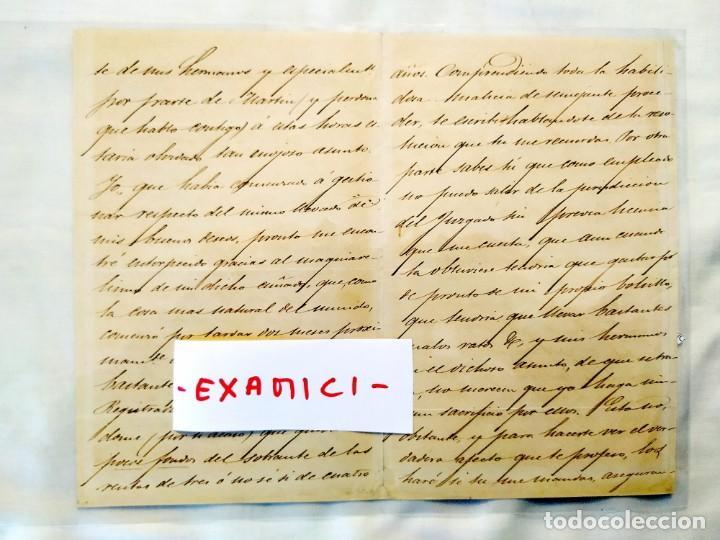 Manuscritos antiguos: 1871 - VERGARA - FAMILIA EGAÑA - VENTA CASAS AZPEITIA - Foto 2 - 235566660