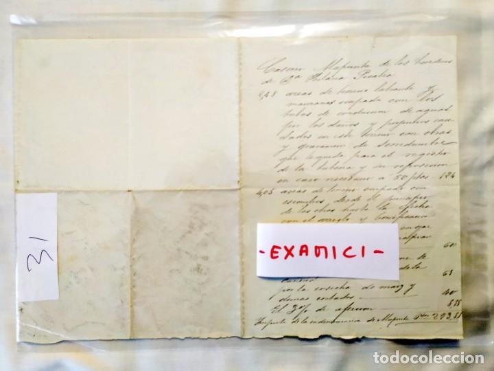 2ª MITAD SIGLO XIX - INDEMNIZACIONES CASERÍO ALAPUNTA - ALZA - SAN SEBASTIÁN (Coleccionismo - Documentos - Manuscritos)