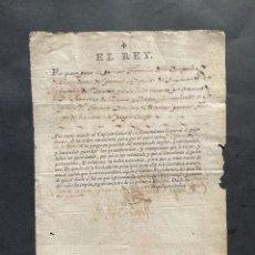 Manuscrits anciens: 1794 - FIRMA DEL REY CARLOS IV NOMBRANDO AL PRIMER TENIENTE DE GRANADEROS DE ZAMORA. Lote 235694460