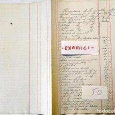 Manuscritos antiguos: 1890 - SAN SEBASTIÁN - INVENTARIO DEL CONTENIDO DE CASA EN CALLE HERNANI. Lote 235785620