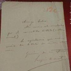Manuscritos antiguos: DOCUMENTO CON FIRMA DEL POETA Y ESCRITOR NACIDO EN CALATAYUD, JOAQUIN DICENTA. Lote 235924150