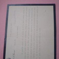 Manuscritos antiguos: CARTA CON FIRMA DEL MINISTRO DE GUERRA FERNANDO PRIMO DE RIVERA Y SOBREMONTE.. Lote 235929325