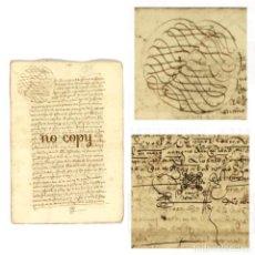 Manuscritos antiguos: DOCUMENTOS SOBRE LA CAPILLA DE SANTIAGO FUNDADA EN CÁCERES POR UN ARCEDIANO 1568. Lote 199654353
