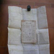 Manuscritos antiguos: PERGAMINO, CAPITULACIONES MATRIMONIALES, AÑO 1473, HUESCA, NOBLEZA ARAGONESA ARAGON. Lote 235961925