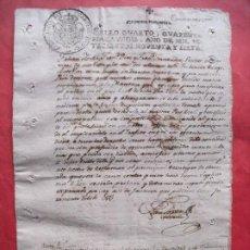 Manuscritos antiguos: MANUSCRITO.-SELLO CUARTO.-CUARENTA MARAVEDIS.-CARLOS IV.-FABIAN ABELLA.-FERROL.-LA CORUÑA.-AÑO 1797.. Lote 236028730
