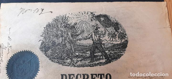 Manuscritos antiguos: DOCUMENTO ESCLAVOS DECRETO ABOLICION ESCLAVITUD 189 CUBA 1868 FIRMA CARLOS MANUEL CESPEDES ORIGINAL - Foto 2 - 236084855