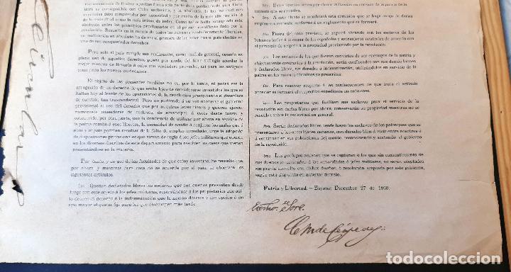 Manuscritos antiguos: DOCUMENTO ESCLAVOS DECRETO ABOLICION ESCLAVITUD 189 CUBA 1868 FIRMA CARLOS MANUEL CESPEDES ORIGINAL - Foto 4 - 236084855