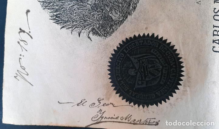 Manuscritos antiguos: DOCUMENTO ESCLAVOS DECRETO ABOLICION ESCLAVITUD 189 CUBA 1868 FIRMA CARLOS MANUEL CESPEDES ORIGINAL - Foto 8 - 236084855