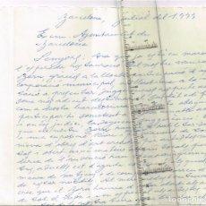 Manuscritos antiguos: 1977 CARTA DE JOSEFINA NARBONA I COLL AL AJUNTAMENT SUGERINT UNA IDEA PER FER UN BORN OBERT AL MON. Lote 236263950