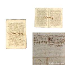 Manuscritos antiguos: VENTA DE UN PARRAL EN LA RIBERA DEL RÍO JERTE, PLASENCIA (CÁCERES) POR UN REGIDOR DE LA CIUDAD 1537. Lote 192347372
