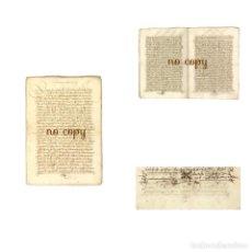 Manuscritos antiguos: DOCUMENTO SOBRE LA VENTA DE UNA CASA EN LA CALLE DE TALAVERA, DE PLASENCIA (CÁCERES) 1554. Lote 199652487