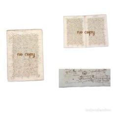 Manuscritos antiguos: DOCUMENTO OTORGADO POR VARIOS VECINOS DE PLASENCIA (CÁCERES) 1575. Lote 191303073