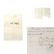 Manuscritos antiguos: CARTA FRAGA INGLESA MALLORCA IBIZA. BARCELONA 1761. Lote 191880850