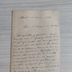 Manuscritos antiguos: MESONERO ROMANOS CARTA MANUSCRITA SOBRE MEMORIAS DE UN SETENTON. Lote 236910790