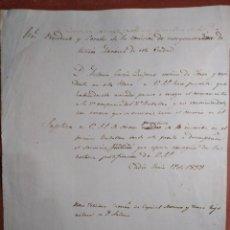 Manuscritos antiguos: DOCUMENTO SOLICITANDO CAMBIO DE BATALLÓN DE LA MILICIA NACIONAL.CADIZ1838.. Lote 236923625