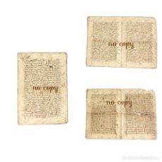 Manuscritos antiguos: CENSO DE UNA VECINA DE PLASENCIA (CÁCERES) A FAVOR DE OTRO SOBRE UNAS CASAS EN LA CIUDAD 1544. Lote 189748507