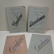 Manuscritos antiguos: CUATRO ANTIGUOS CUADERNOS DE ESCUELA. USADOS, MANUSCRITOS. AÑOS 50. Lote 237776125