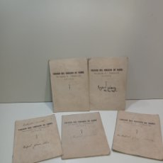 Manuscritos antiguos: CINCO ANTIGUOS CUADERNOS MANUSCRITOS DE PRINCIPIOS SIGLO XX. COLEGIO DEL CORAZÓN DE MARÍA. JÁTIVA,.. Lote 237776785