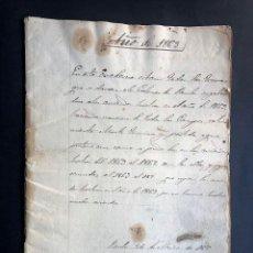 Manuscritos antiguos: TIERRAS DADAS EN ARRIENDO A LOS COLONOS DE PAULES / ERLA / LUNA / EJEA DE LOS CABALLEROS 1863. Lote 238109325