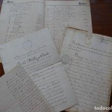 Manuscritos antiguos: ABENÓJAR, CIUDAD REAL, FINCAS COMPRADAS A HACIENDA, SUBASTA Y PLEITOS. Lote 238291000