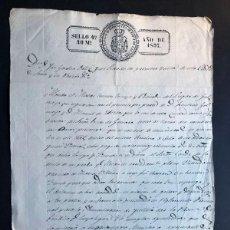 Manuscritos antiguos: MANUSCRITO 1837 ( SELLO 4º ) MANDATO AL CONCEJO DE GOLMAYO ( SORIA ) SOBRE DEUDA AL CONDE DE GOMARA. Lote 239947170
