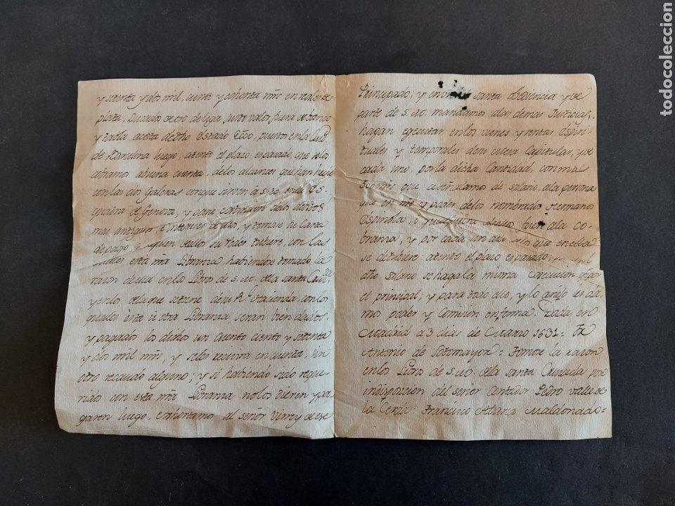 Manuscritos antiguos: Carta Galeras Gènova Confesor Real Felipe III Comisario General Santa Cruzada Inquisidor España 1631 - Foto 4 - 240211450