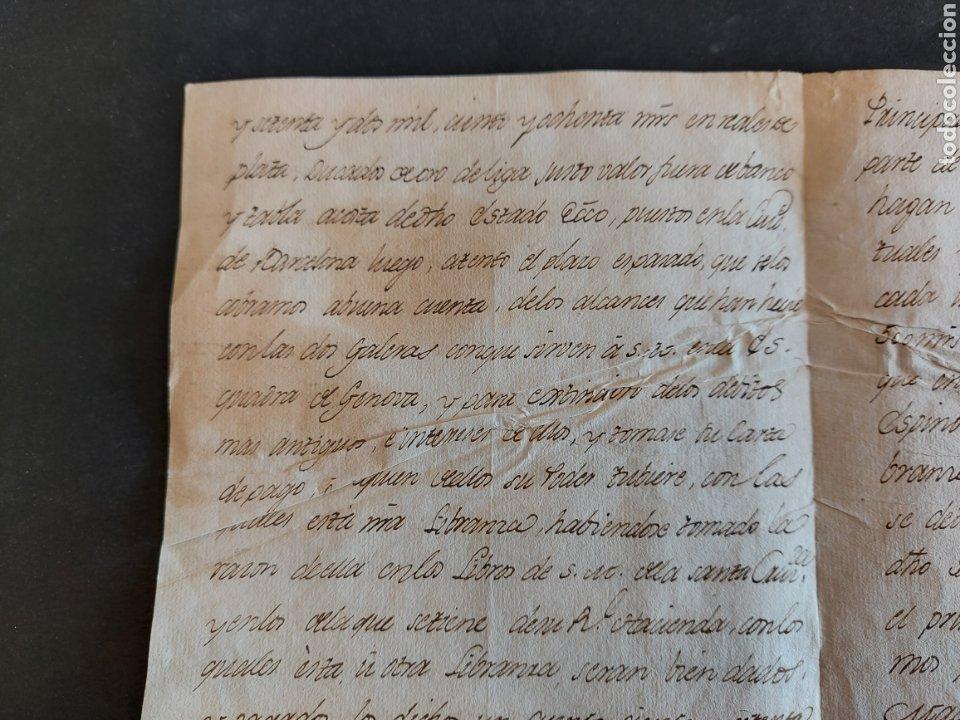 Manuscritos antiguos: Carta Galeras Gènova Confesor Real Felipe III Comisario General Santa Cruzada Inquisidor España 1631 - Foto 5 - 240211450