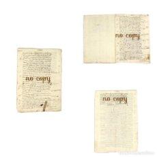 Manuscritos antiguos: INVENTARIO Y TASACIÓN DE TAPICES, PINTURAS Y UTENSILIOS DE COCINA 1664. Lote 199585038