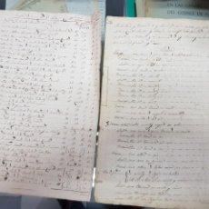 Manuscritos antiguos: ANTIGUOS DOCUMENTOS INVENTARIO Y TASACION DE BIENES ANTONIO CUESTA ALMODOVAR DEL PINAR CUENCA S. XIX. Lote 240455750