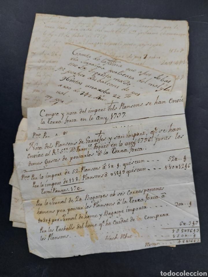 Manuscritos antiguos: Gastos de Fortificación Casa la Torreforta y sus terrenos adjuntos Tarragona Siglo XVIII Siglo XIX - Foto 4 - 240464255