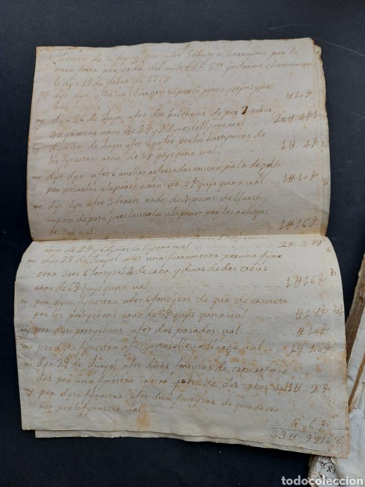 Manuscritos antiguos: Gastos de Fortificación Casa la Torreforta y sus terrenos adjuntos Tarragona Siglo XVIII Siglo XIX - Foto 5 - 240464255