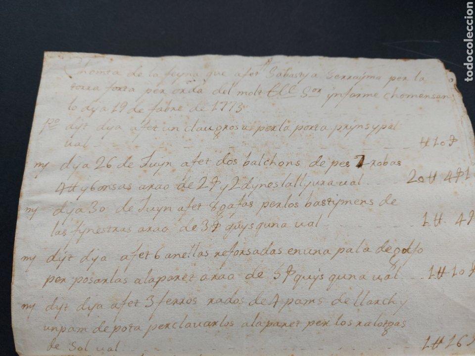 Manuscritos antiguos: Gastos de Fortificación Casa la Torreforta y sus terrenos adjuntos Tarragona Siglo XVIII Siglo XIX - Foto 6 - 240464255