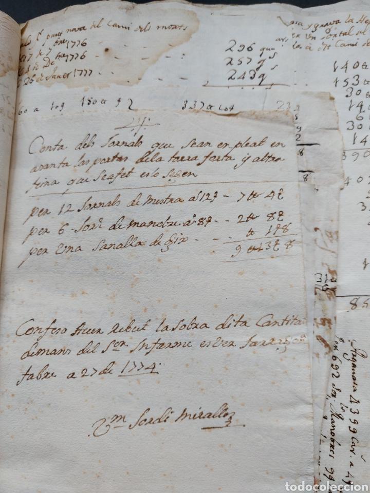 Manuscritos antiguos: Gastos de Fortificación Casa la Torreforta y sus terrenos adjuntos Tarragona Siglo XVIII Siglo XIX - Foto 9 - 240464255