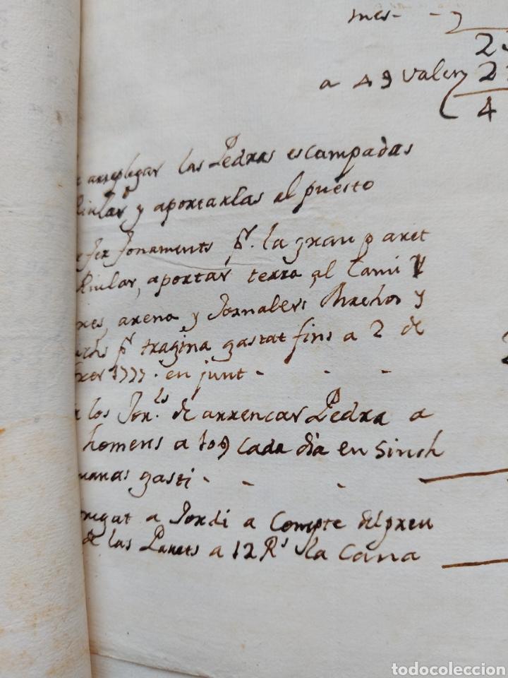 Manuscritos antiguos: Gastos de Fortificación Casa la Torreforta y sus terrenos adjuntos Tarragona Siglo XVIII Siglo XIX - Foto 11 - 240464255