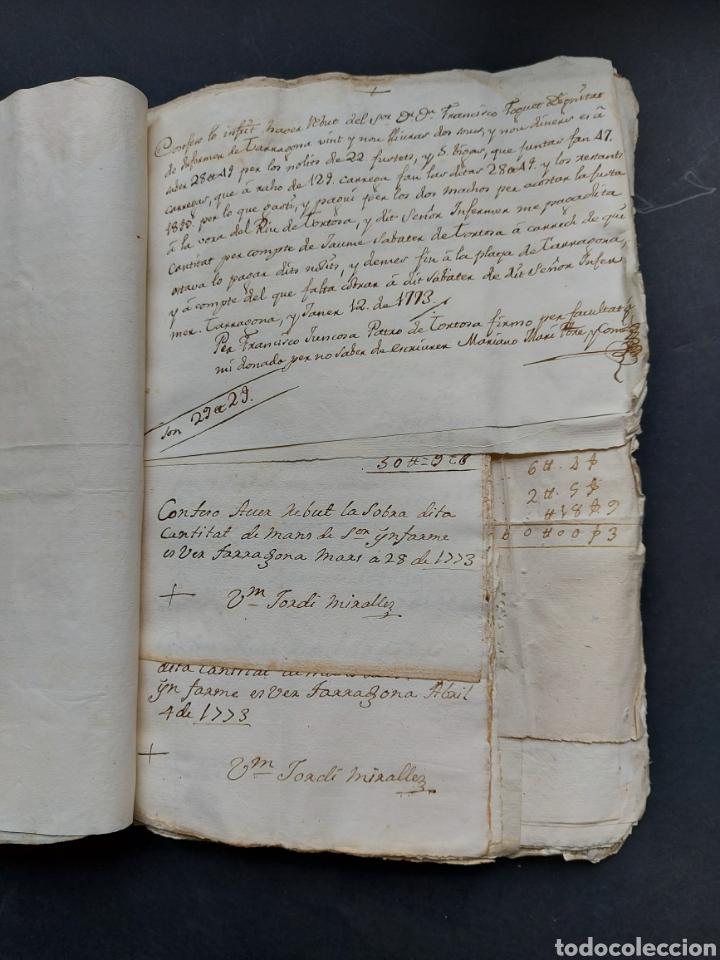 Manuscritos antiguos: Gastos de Fortificación Casa la Torreforta y sus terrenos adjuntos Tarragona Siglo XVIII Siglo XIX - Foto 12 - 240464255