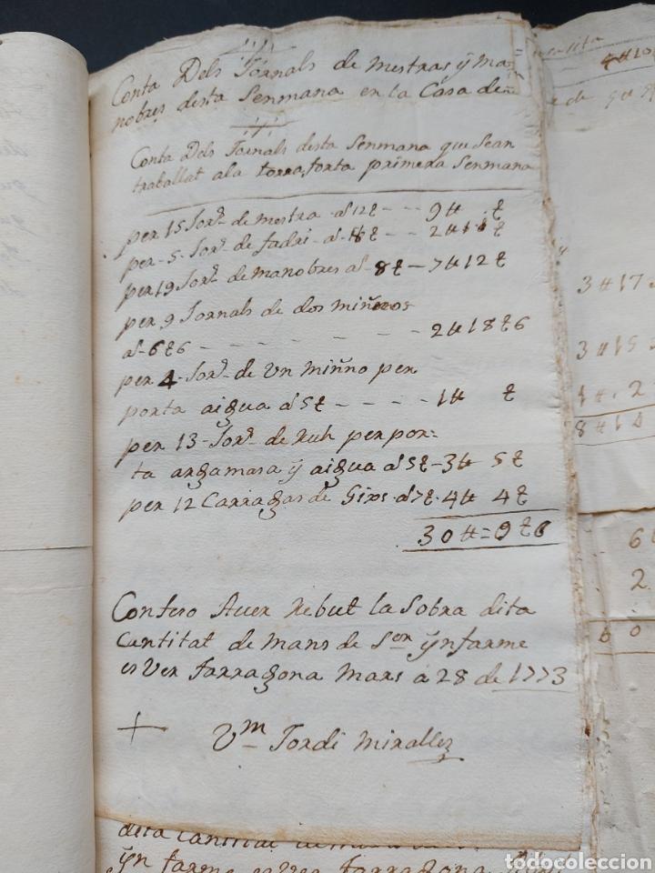 Manuscritos antiguos: Gastos de Fortificación Casa la Torreforta y sus terrenos adjuntos Tarragona Siglo XVIII Siglo XIX - Foto 14 - 240464255