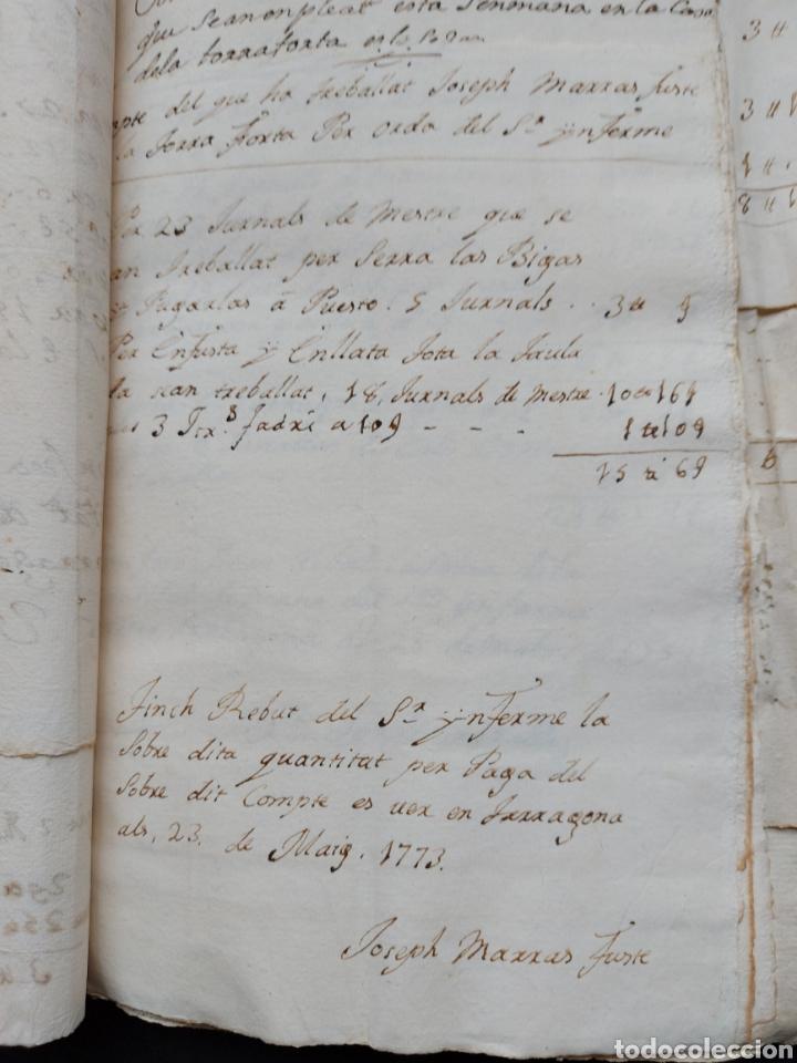 Manuscritos antiguos: Gastos de Fortificación Casa la Torreforta y sus terrenos adjuntos Tarragona Siglo XVIII Siglo XIX - Foto 16 - 240464255