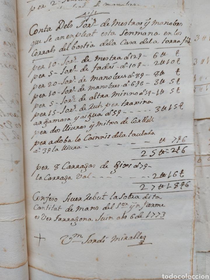 Manuscritos antiguos: Gastos de Fortificación Casa la Torreforta y sus terrenos adjuntos Tarragona Siglo XVIII Siglo XIX - Foto 17 - 240464255